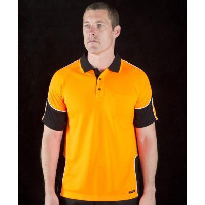 Picture of Jb'S Hi Vis Short Sleeve Arm Panel Polo