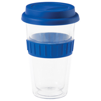 Picture of Plastic Double-Walled Mug - Blue