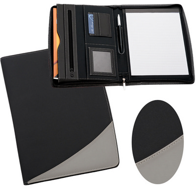 Picture of A4 Zippered Compendium - Grey