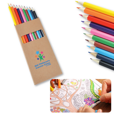 Picture of Coloured Full Length Colouring Pencils