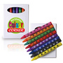 Assorted Colour Crayons in White Cardboa