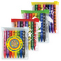 Assorted Colour Crayons in PVC Zipper
