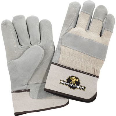 Picture of Safety Works Double Palm Leather Gloves White Cuff