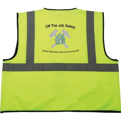 Picture of Safety Works Hi-Viz Lime Green Class 2 Safety Vest