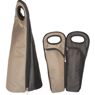 Picture of Two Bottle Wine Carrier - Bronze/Black