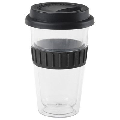 Picture of Plastic Double-Walled Mug - Black
