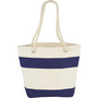 Capri Stripes Cotton Shopper Tote - Blue