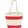 Capri Stripes Cotton Shopper Tote - Red