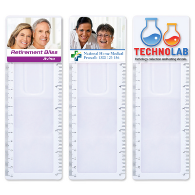 Picture of Clear Bookmark Magnifier Ruler