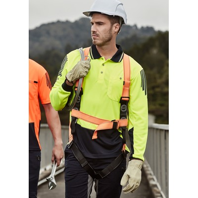 Picture of Mens Hi Vis Flux L/S Polo