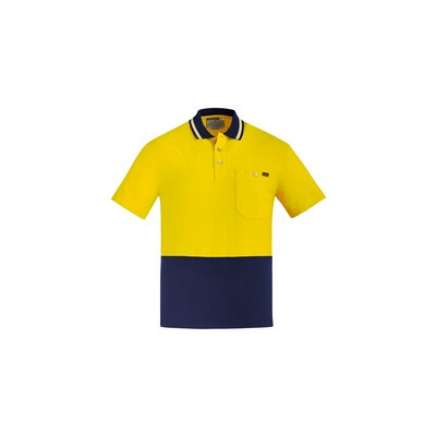 Picture of Mens Hi Vis Cotton S/S Polo