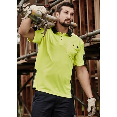 Picture of Mens Reinforced Hi Vis Squad S/S Polo