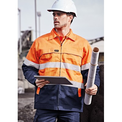 Picture of Mens Hi Vis Cotton Drill Jacket