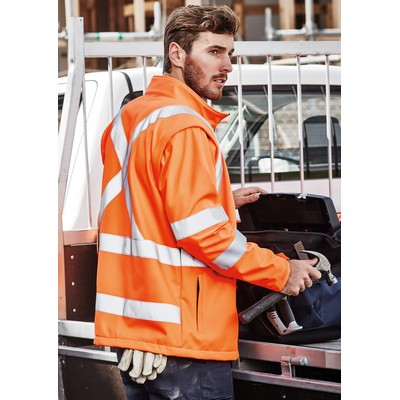 Picture of Unisex Hi Vis 2 in 1 X Back Soft Shell J
