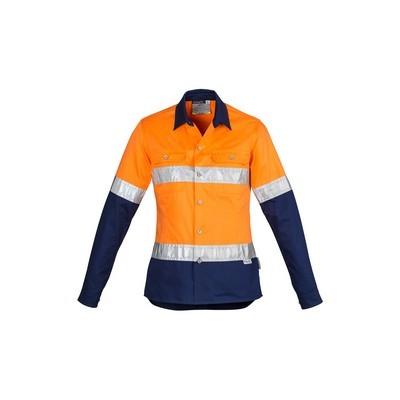 Picture of Womens Hi Vis Spliced Industrial Shirt -