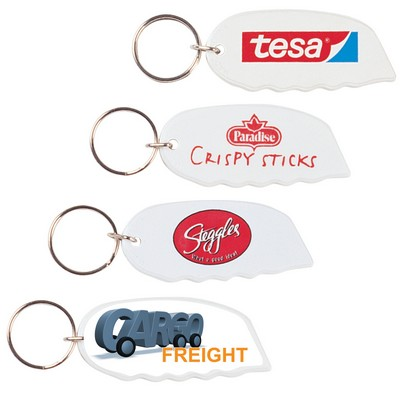 Picture of White Marvel Cutter  Keyring
