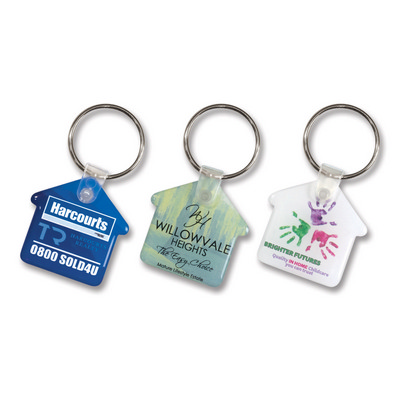 Picture of Flexi Resin Key Ring - House