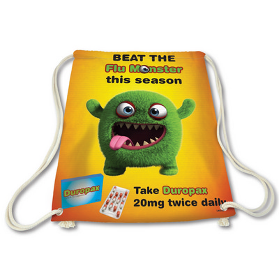 Picture of Cotton Drawstring Bag with Full Colour D