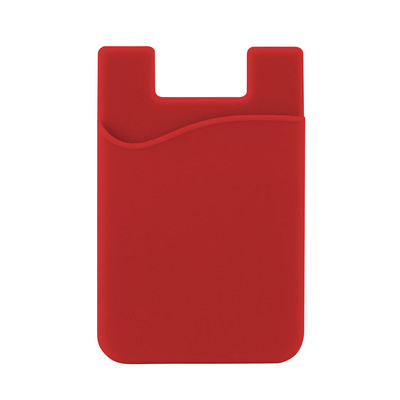 Picture of Silicone Phone Card Holder - Red