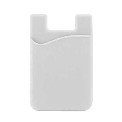 Picture of Silicone Phone Card Holder - White