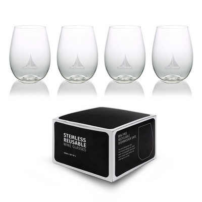 Picture of Plastic Stemless Glasses - Set Of 4
