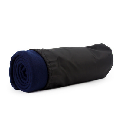 Picture of Blanket In Pouch - Navy Blue