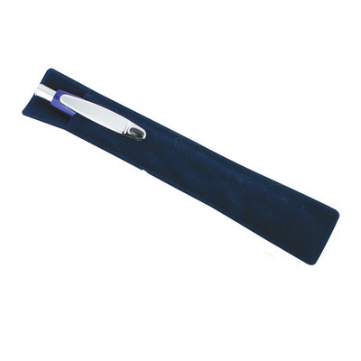 Picture of Suede Pen Sleeve-Navy