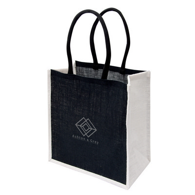 Picture of Large Jute Tote - Black/White