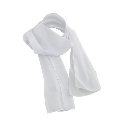 Picture of 100% White Chiffon Scarf