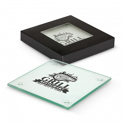 Picture of Venice Glass Coaster Set of 2 - Square