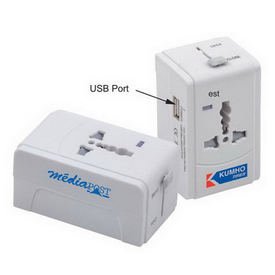 Picture of Universal Travel Adapter With USB