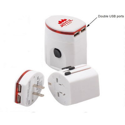 Picture of Light-up Universal Travel Adapter with U