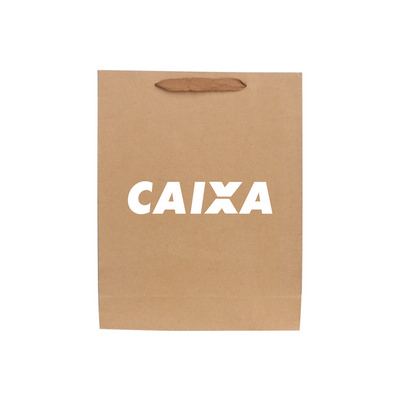 Picture of Medium Vertical Kraft Paper Bag With Fab