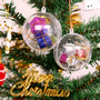 Ball Shaped Clear Plastic Ornament