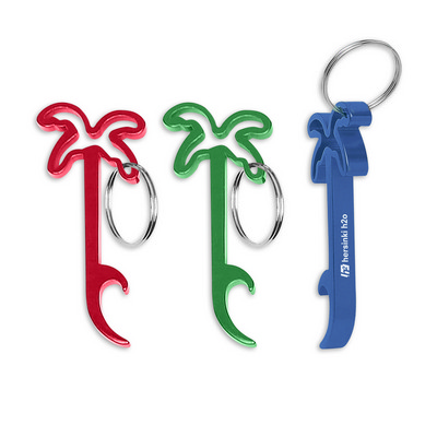 Picture of Palm Tree Bottle Opener Key Ring