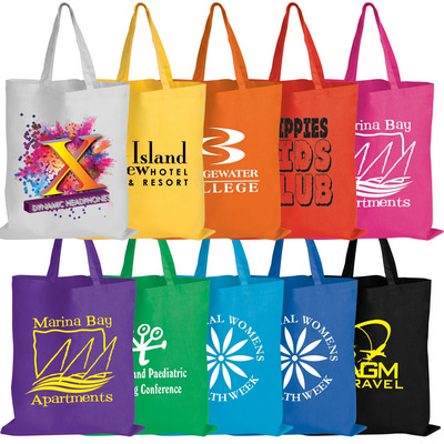 Picture of Coloured Cotton Double Short Handle Tote