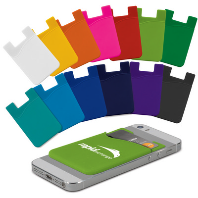 Picture of Silicone Phone Wallet - Indent
