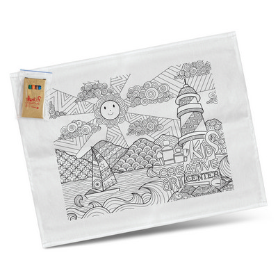 Picture of Cotton Colouring Tea Towel