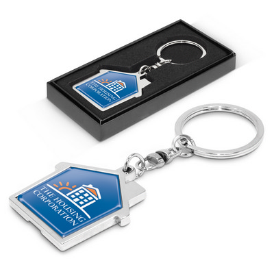 Picture of House Metal Key Ring