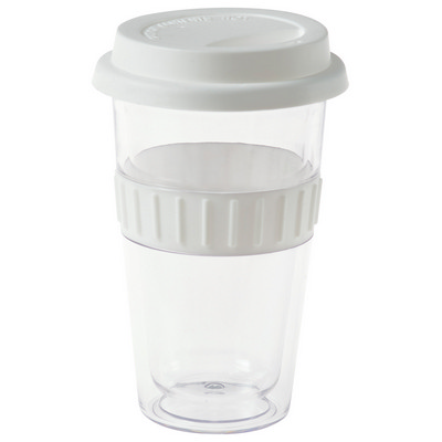Picture of Plastic Double-Walled Mug - White