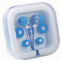 Ear Buds in Case Organiser - Blue