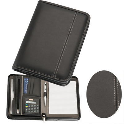Picture of A5 Zippered Compendium with Calculator