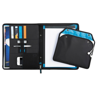 Picture of Zoom 2-In-1 Tech Sleeve Zip Padfolio