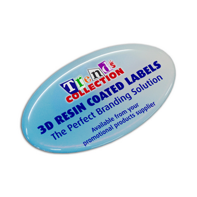 Picture of Resin Coated Labels 74 x 43mm Oval