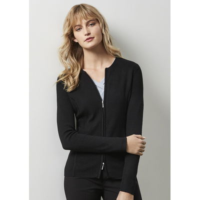 Picture of Ladies 2-Way Zip Cardigan