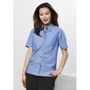 Ladies Wrinkle Free Chambray Short Sleev