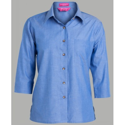 Picture of JB'S  LADIES ORIGINAL 3/4 INDIGO CHAMBRAY SHIRT - 06