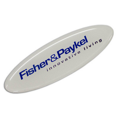 Picture of Resin Coated Labels 90 x 30mm Oval