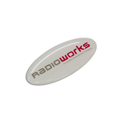 Picture of Resin Coated Labels 55 x 24mm - Oval