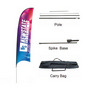 Large(80.5400cm) Concave Feather Banners